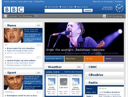 BBC's new site
