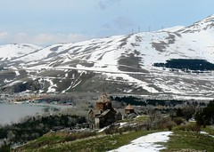 Sevan Lake (nersess) Tags: lake snow church nature landscape monastery caucasus armenia armenianchurch kaukasus sevan vank sevanavank kaukaz armenianorthodox sevanlake