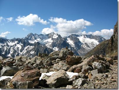 Panorama durante la salita al colle di Valmiana