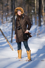 (Ashenzil) Tags: wood winter woman snow nature girl canon fur outdoor 85mm 12 85 mittens f12 nfv