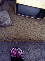 old_tv (tashaphotography) Tags: old tv couch pink black vans grey earth