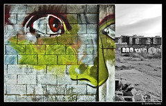 Stanno arrivando... (Stefano Pizzetti) Tags: blackandwhite streetart eye cutout graffiti cityscape decay urbandecay bn bilbao utata zb euskalherria euskadi urbex blackandwhiteandcolor zorrotzaurre desaturadoselectivo socialdocumentaryphotographers brigaterozze contrastiurbani yourvisions officinefotografiche nikonclubitalia desafiourbano dragongoldaward percorsiurbaniof stefanopizzetti