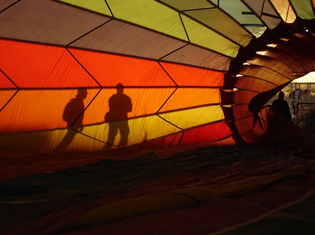 Fiery visions through a balloon
