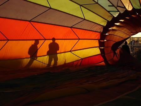 Fiery visions through a balloon