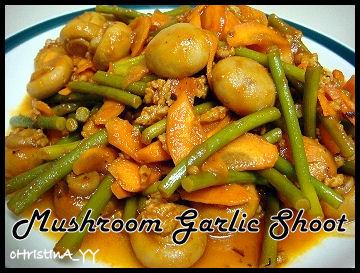 Mushroom Garlic Shoot