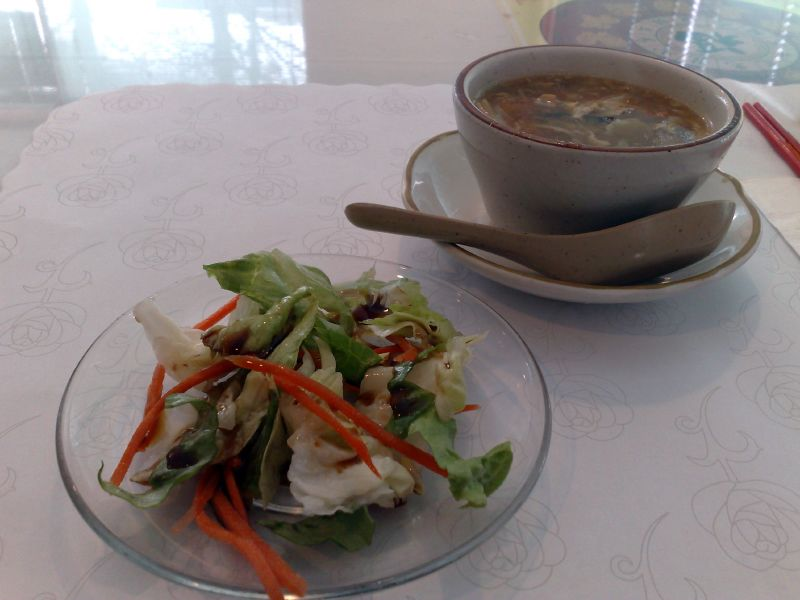 Salad & Hot and Sour Soup
