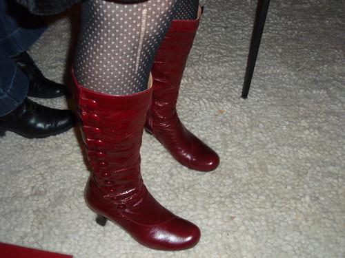 Heidi's super sexy red boots