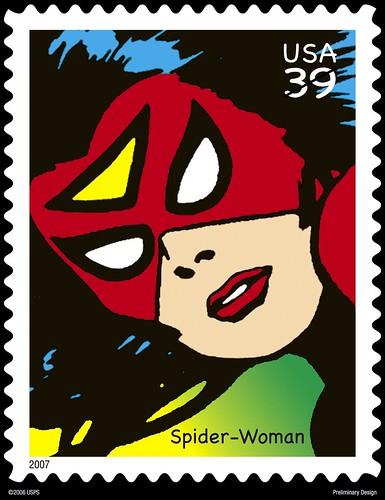 Spiderwoman Stamp