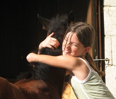 big hug (forestsoul) Tags: horses pets girl animals farm slovenia cowgirl quarterhorse loh horsesrule forestsoul