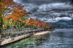 Como Lake 1 - HDR (Ageel) Tags: trees italy lake cold fall water clouds d50 photography nikon 1855mm hdr comolake   nikor  theunforgettablepictures ageel  proudshopper