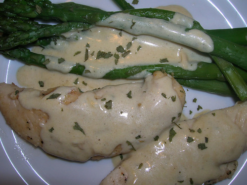 Chicken in Mustard Sauce with Asparagus