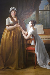 Comtesse de Morel- Vinde and her Daughter (The Music Lesson), 1799 (Detail) (Maulleigh) Tags: music art museum painting de san francisco daughter honor her lesson morel baron legion gerard honour the 1799 comtesse vinde francoispascalsimon