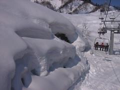 NASPAスキー場のリフトから