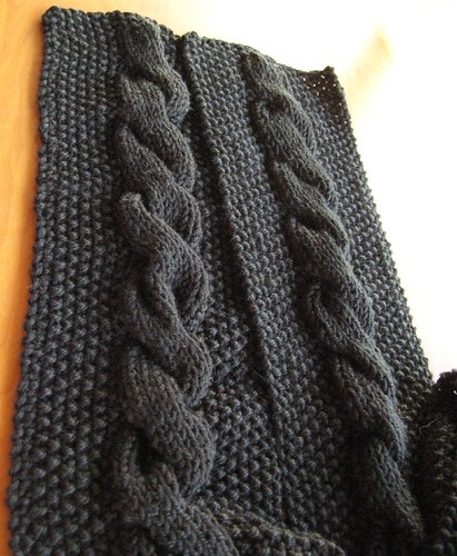 Soft Cabled Scarf