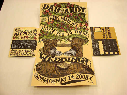 custom woodcut wedding invitation here Adorable woodlandthemed cake