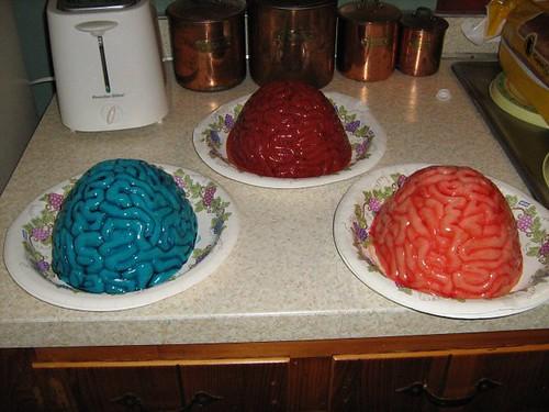Halloween Food - Assorted Jello Brains
