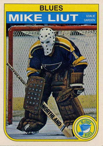 Mike Liut, St. Louis Blues, 82-83 O-Pee-Chee, OPC, hockey, hockey cards, goalie