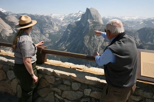 Michael Adams telling Park Ranger where he's been