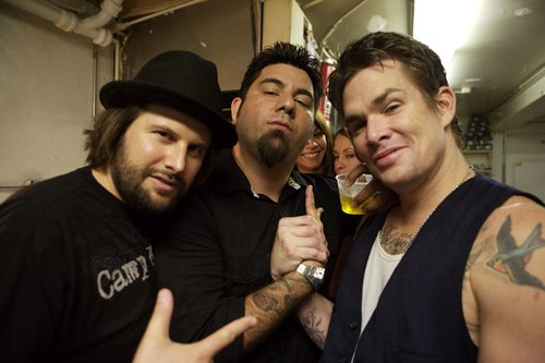 Mark McGrath Chino Moreno Nic Adler Backstage at The Roxy