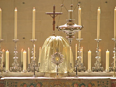 Blessed be God in the Most Holy Sacrament of the Altar!