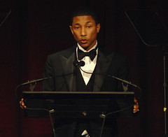 pharrell at a award show