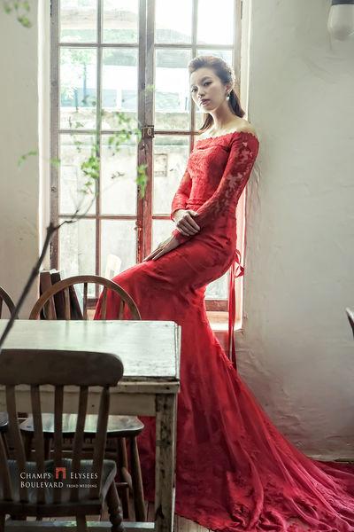 婚紗, 禮服, 婚紗攝影, 紅色禮服, 紅色婚紗, 婚禮, 手工婚紗, 手工禮服, 魚尾禮服, 禮服挑選, 新秘