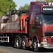 Kenneth Hunt Volvo FH12 6x2 midlift unit tri axle flat+brick crane Y 173 HXX hamilton service station 13 may 09