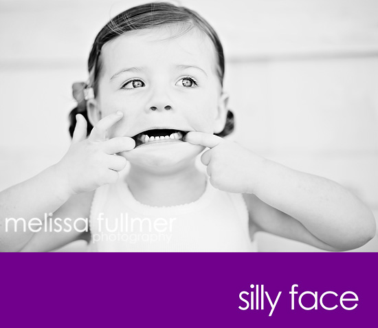 silly face bw