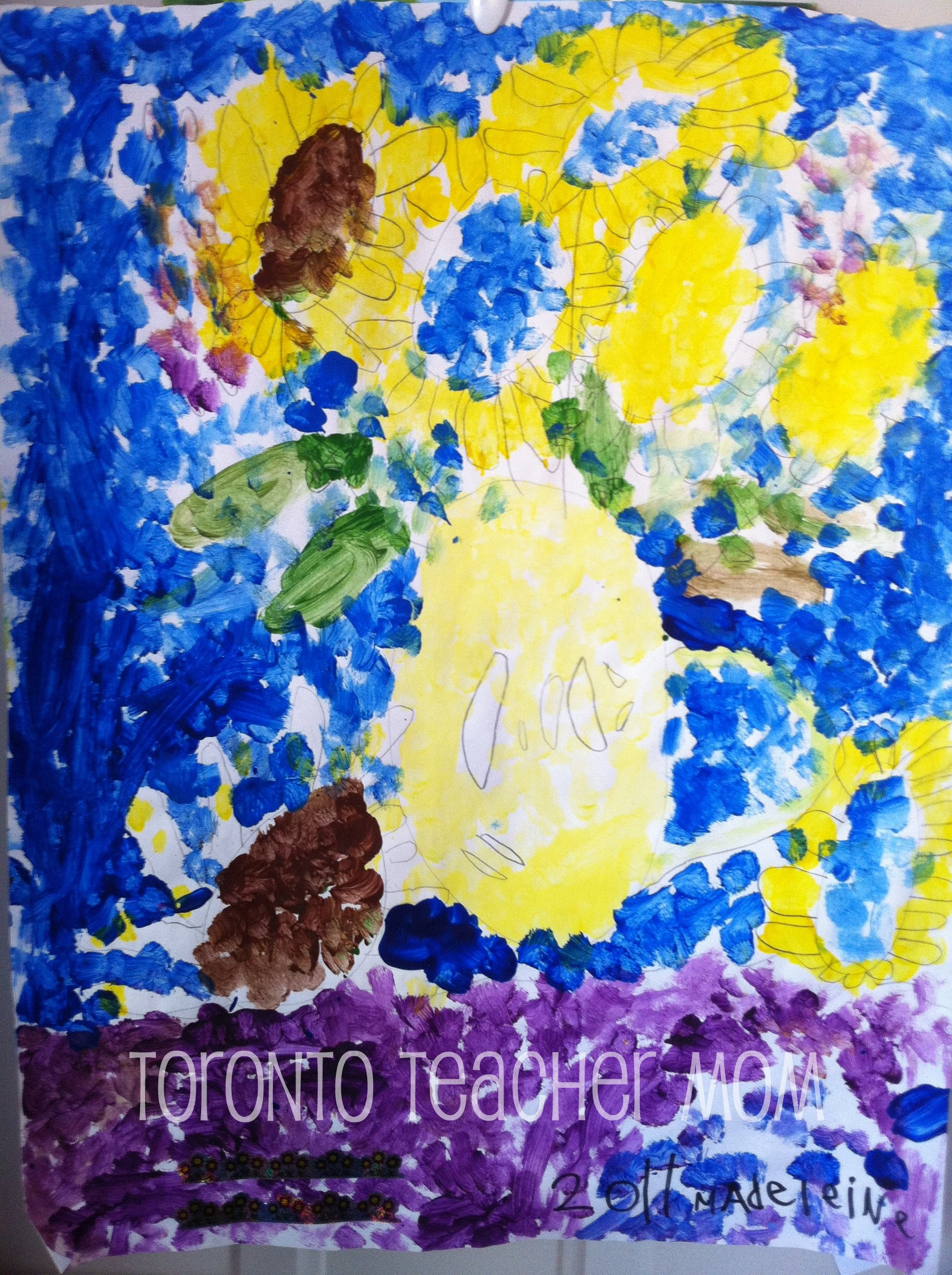 Impressionist Painting by a 5-year-old