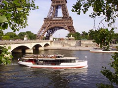 Bateau Mouche on river Seine near the Pont d'Ina and Eiffel Tower in Paris (JPC24M) Tags: bridge tourism statue boat dock holidays flag carousel tourist toureiffel promenade newyorkavenue navigation tourisme drapeau fleuve croisire touriste seineriver vedette escursion seineparis avenuedenewyork rivireseine vedettesdeparis seineinparis vedettesdepariscom vedetteparis