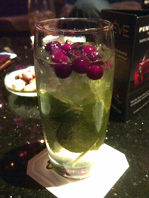 """Cranberry mojito"" at Encore"