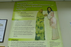 Sulastri featured on a poster for transgender issues