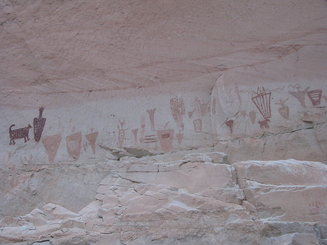 pictographs in Horseshoe Canyon