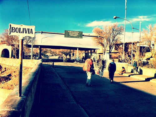 Border between Bolivia and Argentina; Argentinian side.