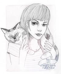 valiente (carlossadness) Tags: sadness carlos gato ilustracion valiente