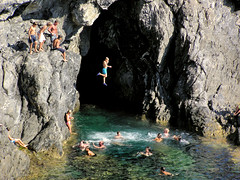 Rocky springboards jumps (Bn) Tags: travel sea vacation holiday beach topf25 topf50 italia topf300 cinqueterre traveling monterosso jumps topf200 italianriviera springboard blueribbonwinner 50faves 200faves 35faves 25faves abigfave 300faves anawesomeshot aplusphoto diamondclassphotographer ysplix