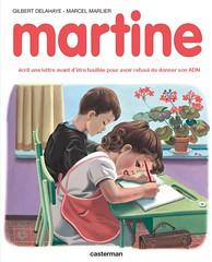 Martine écrit une lettre avant d'être fusillée pour avoir refusé de donner son ADN (Magali Deval) Tags: politics humor humour dna politique martine adn guymôquetpowah