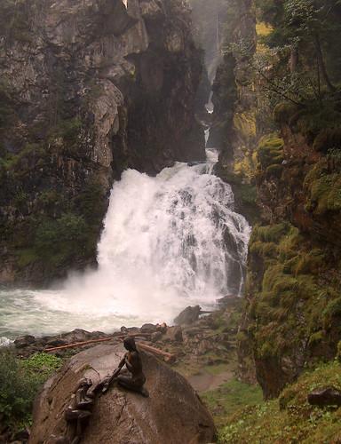 Foto delle cascate Riva di Tures -Alto Adige- Italia