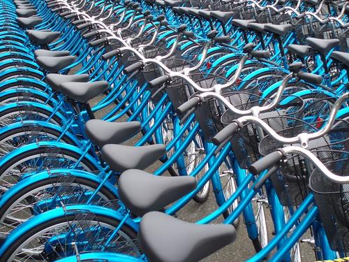 Blue Bicycles , Hagi Japan