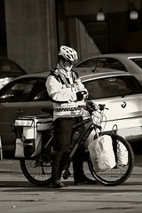Cycle response unit (tootdood) Tags: sepia square geotagged manchester canon20d albert balckandwhite cycle toned response unit geo:lat=53479957 geo:lon=2244526