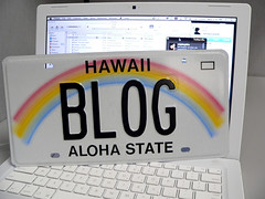 Hawaii Blog License Plate