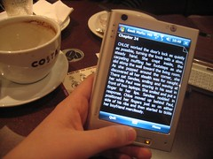 Using the HTC Advantage as an eBook reader