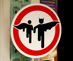 Superheroes crossing