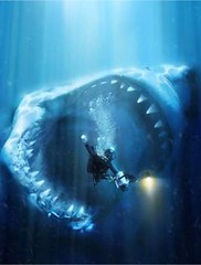 Megalodon / Diving this weekend? (Arne Kuilman) Tags: ocean sea food art water dinner mouth painting giant shark big ancient marine underwater haai dinosaur image drawing eating teeth hunting dive attack large eat surprise huge sharks diver behind swallow predator prehistoric extinct oilpainting hunt unlucky airbrush mega sneak sharkteeth videographer sharkattack oceanic megalodon carcharodon photonotmine carcharodonmegalodon prehistoricshark elastobranch