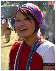 Cheering Tagin Girl (Arif Siddiqui) Tags: india smile women tribal northeast arunachal arunachalpradesh northeastindia unknownfaces arunachalpradeshindia 50millionmissing arunachali