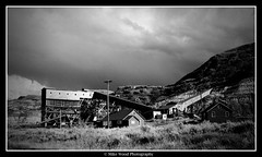 Atlas Coal Mine, 2007 (Mike Wood Photography) Tags: bw canada museum mine historic mining drumheller alberta arr coal allrightsreserved mikewood atlasmine eastcoulee drumhellervalley mikewoodphotographycom mikewoodphotography mwptrav