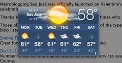 San Jose - Here comes the rain again.