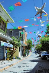 Fiesta On The Streets (cwgoodroe) Tags: blue food beach beer pool mexico sand surf markets palmtrees bowls zihuatanejo infinitypool fishingvillage trinkets tacostand cervesa sfchronicle intrawest zihua zhihua outdoormarket 96hrs playadelropa