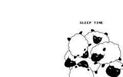 sleep time sheep 1280 x 800