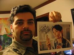 Holding an Autographed Karen Allen